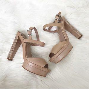 {Vince Camuto} Flawed Studded Platform Heels